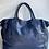 Thumbnail: Classic Navy Sophia Vintage Leather Handbag - Jijou Capri