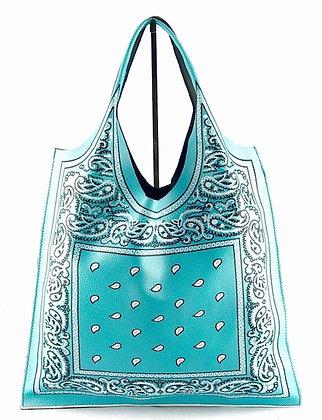 Bandana Leather Tote Bag