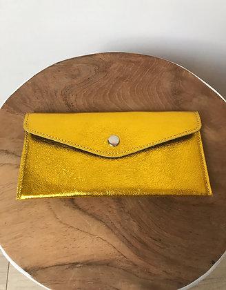 Wallet Bobo Metallic Gold Yellow - Jijou Capri