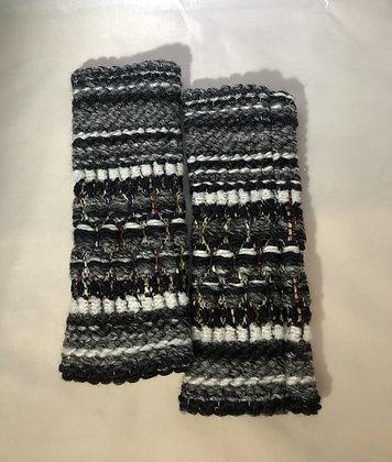 Woven Fingerless Gloves : 200583 Col 8 - Jijou Capri