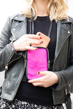Cellphone Pink Pony Leather Wallet - Jijou Capri