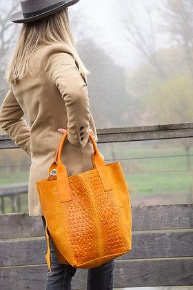 Sacca Suede Croco Handbag