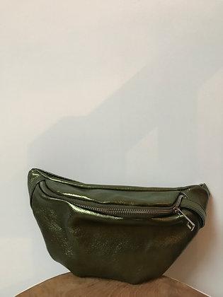 Fanny Pack Olive Metallic Leather - Jijou Capri