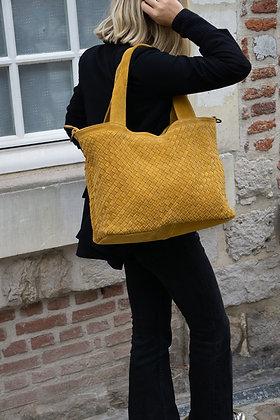 Athena Suede Vintage leather handbag