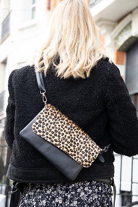 Mini Cheetah Sally Patta Pony Leather Clutch - Jijou Capri