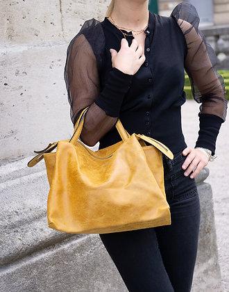Jasmine Mustard Vintage Leather Handbag - Jijou Capri