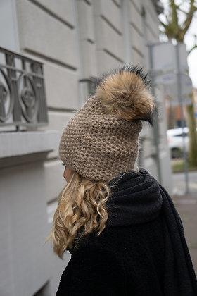 Chunky knits Beanie JJ80 Beige - Jijou Capri