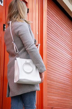 White Momi Leather Handbag - Jijou Capri