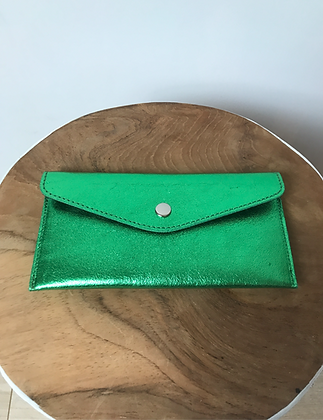 Wallet Bobo Metallic Bright green - Jijou Capri