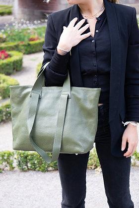 Olive Becky Leather Handbag - Jijou Capri