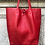 Thumbnail: Red Leather Tote Bag - Jijou Capri