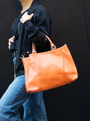 Coral Margaret Leather Handbag - Jijou Capri