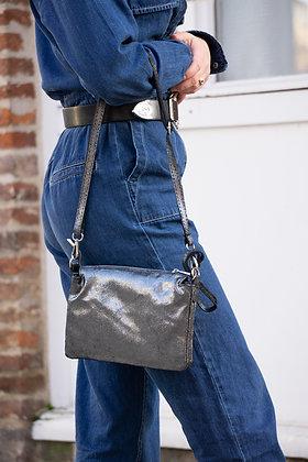 Elvira Glossy Leather Crossbody bag