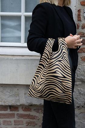Zebra Tokyo Half Pony leather handbag