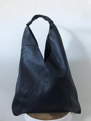 Gisele Navy Leather Tote bag - Jijou Capri