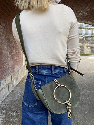 Basilea Olive Pony leather Crossbody Bag - Jijou Capri