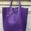 Thumbnail: Purple Leather Tote Bag - Jijou Capri