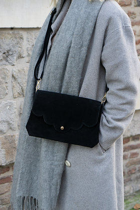 Suzie Suede Leather Crossbody Bag