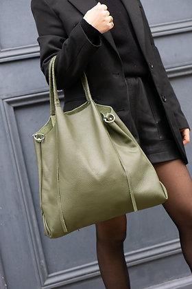 Olive Odette Leather Tote Bag - Jijou Capri