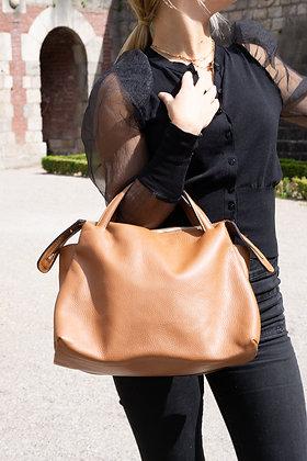 Jasmine Camel Leather Handbag - Jijou Capri