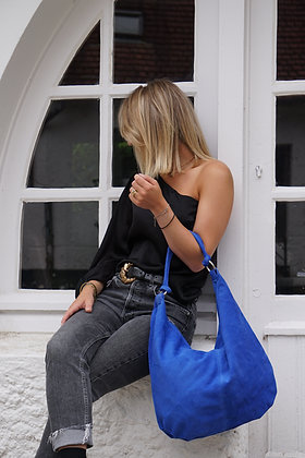 Sonya Suede Leather Handbag