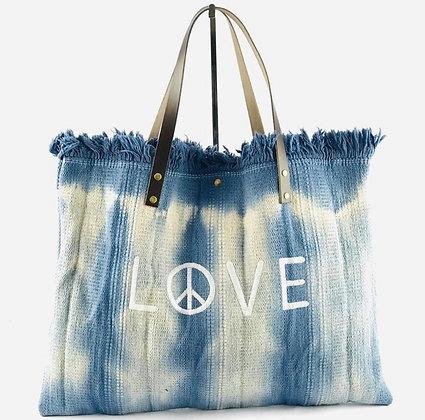 Peace & Love Canvas Tote Bag