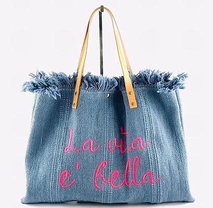 La Vita E Bella Canvas Bag