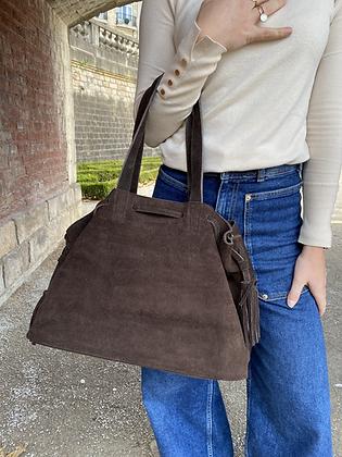 Folya Suede Leather Handbag