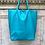 Thumbnail: Turquoise Leather Tote Bag - Jijou Capri