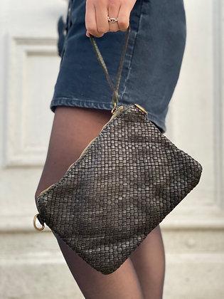 Dark Brown Ziplet Vintage Leather Wallet - Jijou Capri