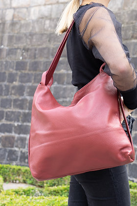 Wine Zaino Futura grained leather handbag- Jijou Capri