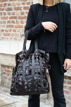 Leaves Leather Handbag