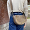 Thumbnail: Basilea Taupe suede leather Crossbody Bag - Jijou Capri