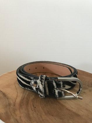 Belt Pony Zebra Leather - Jijou Capri