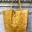 Thumbnail: Mustard Croco Embossed Tote Bag - Jijou Capri