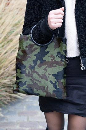 Army Twiggy Pony Leather Handbag - Jijou Capri