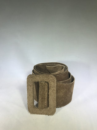 Vogue Suede Leather Belt Taupe 24 - Jijou Capri