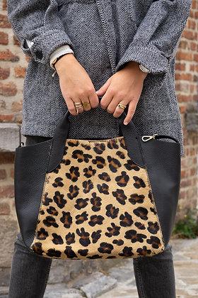 Cindy Big Cheetah Pony leather handbag - Jijou Capri