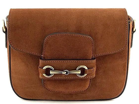 Sienna Box Suede Crossbody Bag