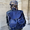 Thumbnail: Blue Zaino Intrecciate vintage Leather Backpack - Jijou Capri