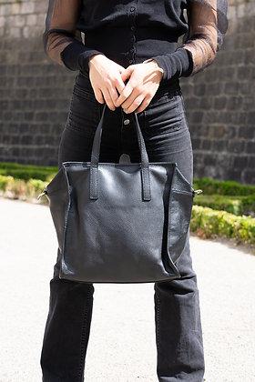 Babylone grained Leather Handbag