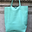 Thumbnail: Aqua Leather Tote Bag - Jijou Capri