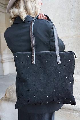 Oria Studs Leather Tote Bag