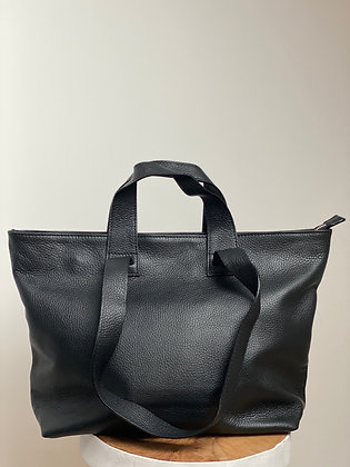Black Becky Leather Handbag - Jijou Capri