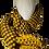 Thumbnail: JJ83 Reversible Scarf Yellow - Jijou Capri