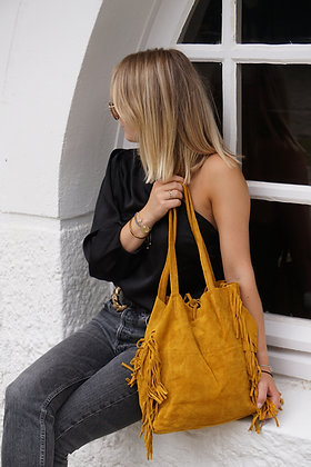 Fringes Suede Leather Tote Bag