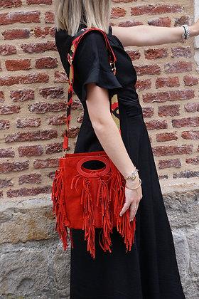 Mini Seville Strap  Suede leather Crossbody Bag