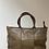 Thumbnail: Taupe Evangeline Vintage leather handbag - Jijou Capri