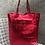 Thumbnail: Metallic Red Leather Tote - Jijou Capri