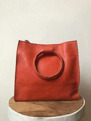 Orange Momi Leather Handbag - Jijou Capri